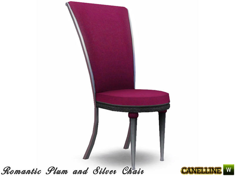 Romantic plum and silver dining room dining chair by for Plum dining room chairs