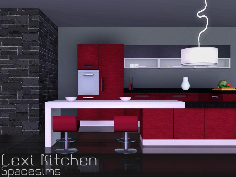 Spacesims 39 lexi kitchen for Modern kitchen sims 3