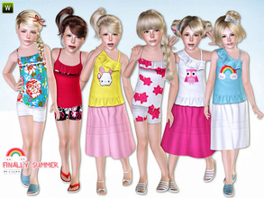Sims 3 — Finally Summer - Set by lillka — This set includes: Summer dress and summer outfit for girls. I hope you like it