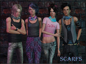 Sims 3 — AccessoriesSet2--Scarfs by Shojoangel — Hi...fashionable and trendy scarfs for your sims...one scarf is