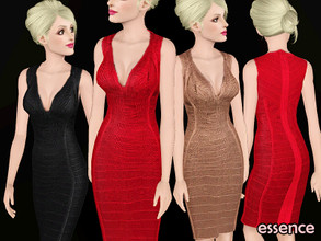 Sims 3 — Eclat by simseviyo — Beautiful feminine dress with details