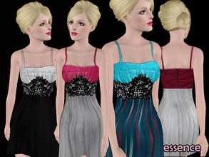 Sims 3 —  by simseviyo — New dress with 2 color channels and cute details