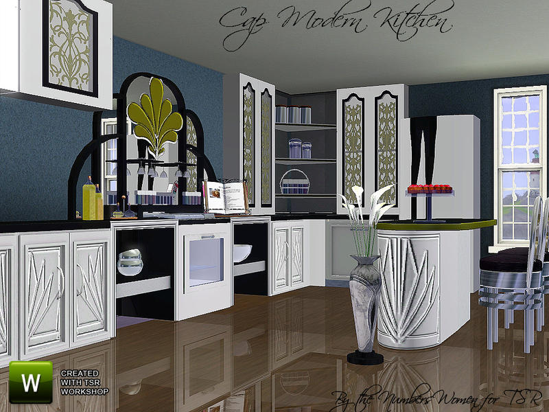 Thenumberswoman 39 s cap modern kitchen for Modern kitchen sims 3