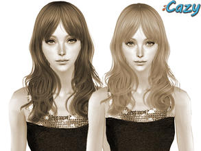 Sims 2 — Agnetha Hairstyle - Mesh by Cazy — Hairstyle mesh for female all ages
