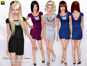 Sims 3 — (Teen) Perfectly Through The Summer by lillka — Teen dress for Everyday/Formal 4 styles/recolorable I hope you