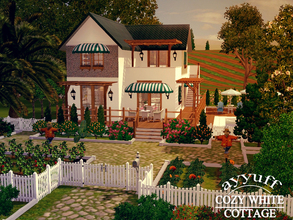 Sims 3 — Cozy White Cottage_Furnished_ by ayyuff — A cute modern cottage for 6 persons. It has, 1st.floor:Kitchen,living