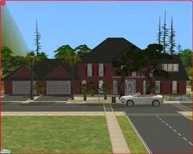 Sims 2 — 47 Tree Lane by Anakin_Stupaine — Fairly large villa with 2 double beds. There\'s a 2 car garage, a grand