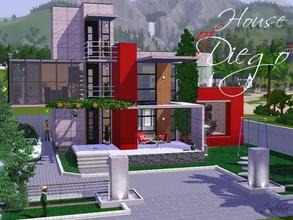 Sims 3 — House of Diego by Jindann — Modern house in 20 x 30 size is very simple but not too simple because it has many