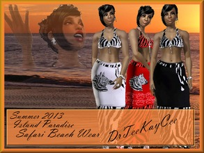 Sims 3 — Island Paradise: Safari Beach Wear by drteekaycee — Your sims want to be ready for the heat yet still look