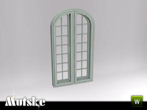 Sims 3 — Hunt Large Closed Window 2x1 by Mutske — Part of the Hunt Bedroom. Closed window with slots. Add-on for the