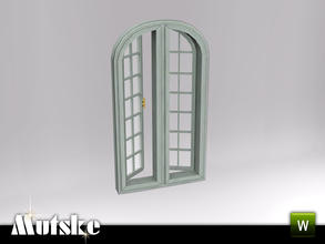 Sims 3 — Hunt Large Open Window 2x1 by Mutske — Part of the Hunt Bedroom. Open window with slots. Add-on for the Arched