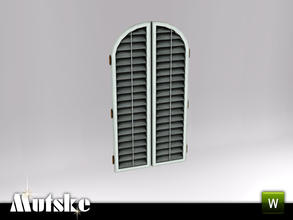 Sims 3 — Hunt Closed Shutter Large 2x1 by Mutske — Part of the Hunt Bedroom. 4 recolorable parts. Made by Mutske. TSRAA.