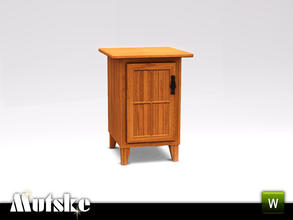Sims 3 — Hunt Bedroom Nightstand Left by Mutske — Part of the Hunt Bedroom. 3 recolorable parts, Environment 1. Made by
