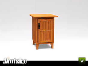 Sims 3 — Hunt Bedroom Nightstand Right by Mutske — Part of the Hunt Bedroom. 3 recolorable parts, Environment 1. Made by