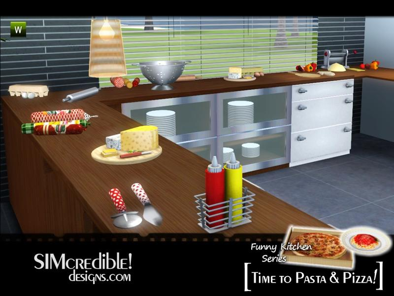 simcredible 39 s funny kitchen series time to pasta and pizza. Black Bedroom Furniture Sets. Home Design Ideas