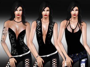 Sims 3 — New Trendy Tops by saliwa — New Sequin,Lace and Deep Neck Tops. Enjoy.