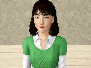 Sims 3 — Kit Ying by claudiasharon — This is Kit Ying, a Chinese-Vietnamese professional author. She donates to animal