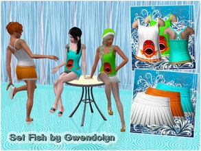Sims 3 — AF_set Fish by Gwendolyn by Gvendolin2 — The peculiarity of this set - transparent insert. Perfect for a hot