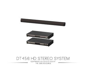 Sims 3 — DT456 HD Stereo System by DT456 — Slim, modern and delivers good sound. Who would not want this piece of luxury?