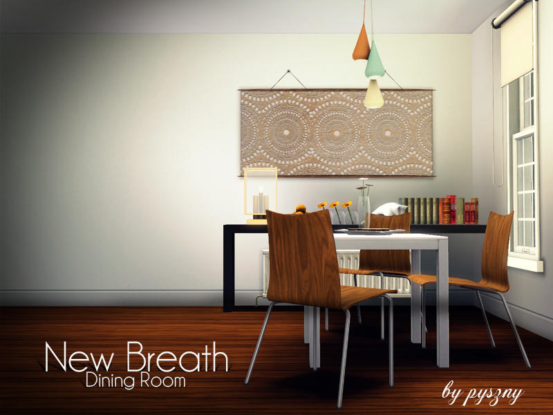 Pyszny16 39 s new breath dining room for Sims 3 dining room ideas