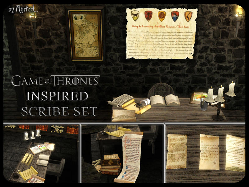 Murfeel 39 s game of thrones inspired scribe set - Game of thrones objet ...