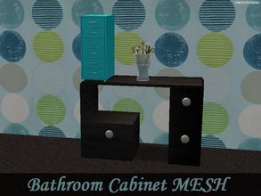 "Sims 2 — Bathroom Cabinet MESH by staceylynmay2 — Bathroom cabinet mesh - has 1 slot but if you use ""move_objects"