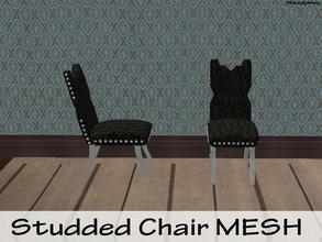 Sims 2 — Studded Chair MESH by staceylynmay2 — Studded chair mesh - black leather texture, with white studs and legs. You
