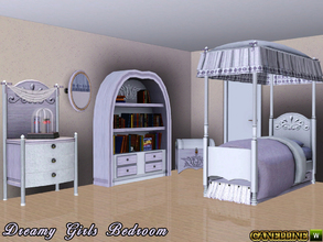 Sims 3 — Dreamy Girls Bedroom by Canelline — This room is especially made for young girls, with a romantic mind. This set