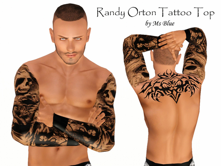 Ms Blue's Randy Orton Tattoo Top
