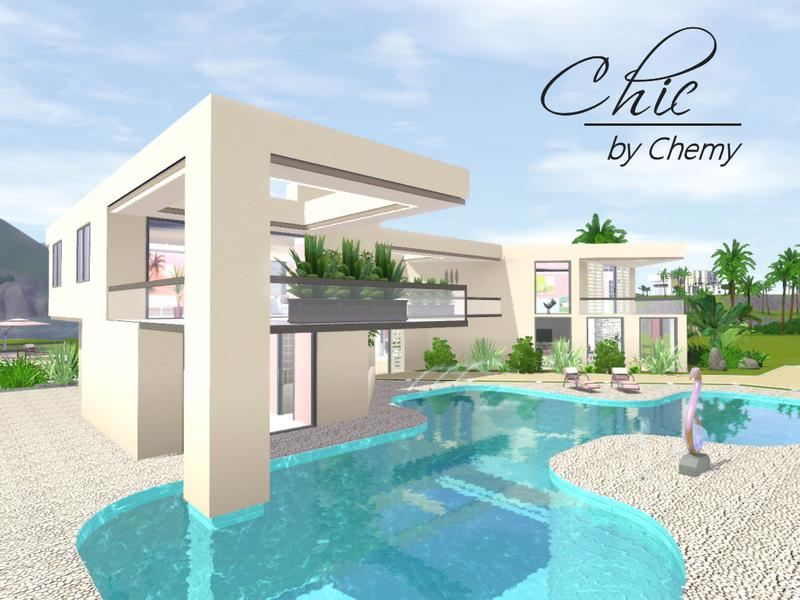 Chemy 39 s chic modern for Pool design sims 3