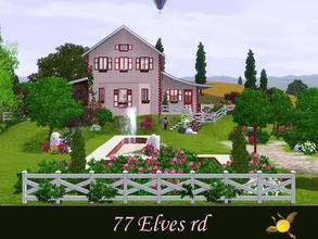 Sims 3 — evi 77 Elves rd by evi — Built in the middle of a big garden this lot seems like it comes from a page of a kids'
