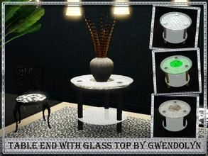 Sims 3 — Table end with glass top_by Gwendolyn by Gvendolin2 — Side table contemporary design. Fits almost any interior.