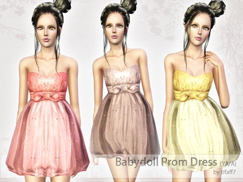 Tifaff7s Babydoll Prom Dress Yaa