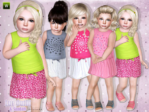 Sims 3 — Luv Outfit & Sandals by lillka — This set includes: Luv Outfit/Sandals for toddler girls. Everyday/Formal