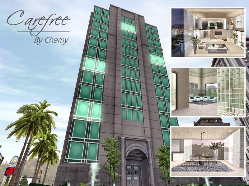 Chemy 39 s carefree high rise for Apartment design sims 3