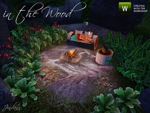 Sims 3 — in the wood by Jindann — In the wood set is beautiful natural items for your Island Paradise BUT base game only