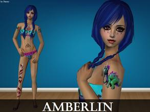 Sims 2 — Amberlin by staceylynmay2 — Amberlin comes with everything you see. She is a beach babe who loves tattoos and