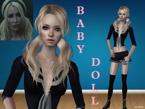 "Sims 2 — Baby Doll by staceylynmay2 — Baby Doll is a character from the movie ""Suckerpunch\"". Thanks to all"