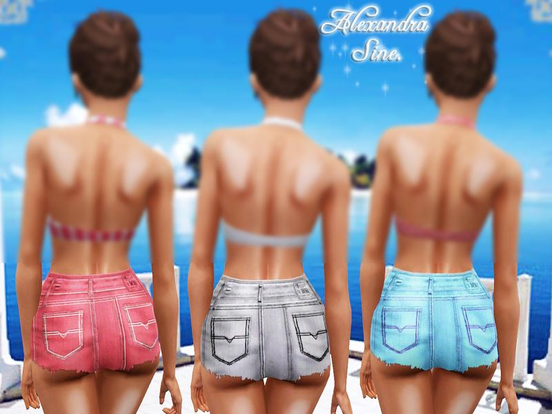 Sims 3 High Waisted Shorts High Waisted Denim Shorts