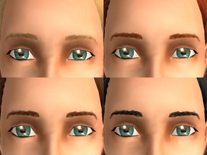 Sims 2 — Meyebrows by zaligelover2 — Everyday eyebrows.