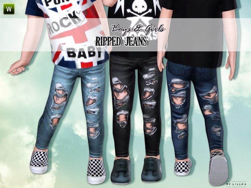 lillka's Ripped Jeans for Toddler