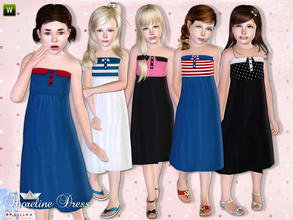 Sims 3 — Shoreline Dress by lillka — Summer dress for your girls. Everyday/Formal 5 styles/4 recolorable palettes I hope