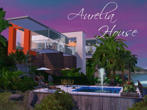 Sims 3 — Aurelia House by Jindann — Beautiful! The house is modern in 35 and 45 in size. Place it on 33 Surf Circle
