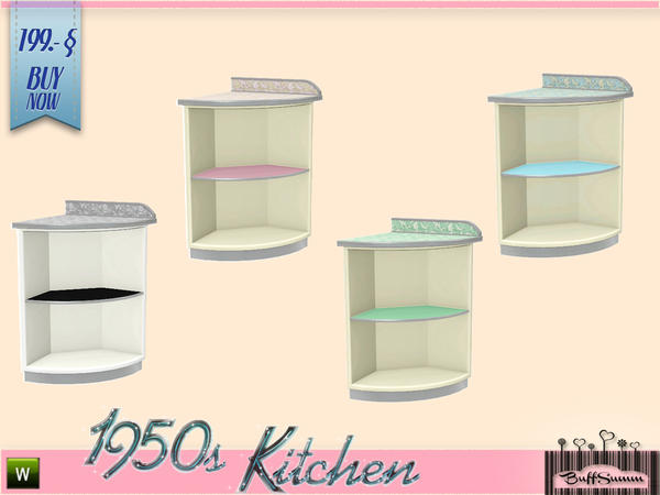 buffsumm 39 s 1950s kitchen deko counter a. Black Bedroom Furniture Sets. Home Design Ideas