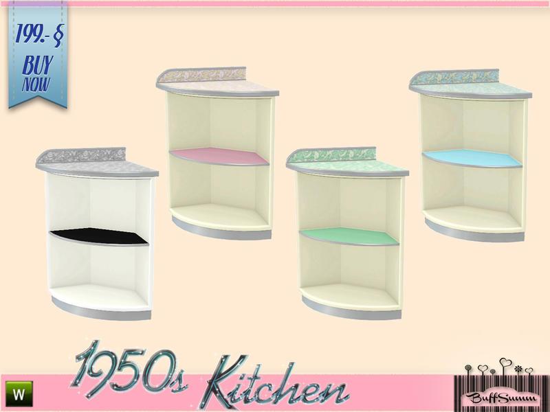 buffsumm 39 s 1950s kitchen deko counter b. Black Bedroom Furniture Sets. Home Design Ideas