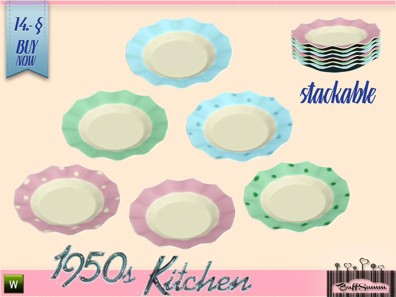 Buffsumm S 1950s Kitchen Plate D