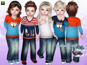 Sims 3 — Fox Adventures - Set by lillka — This set includes: Little Fox Outfit with Sneakers for toddler girls and boys.