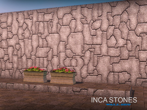 Sims 3 — Inca stones by senemm — With this set of 8 stone walls you can easily rebuild the streets of Cuzco, the famed