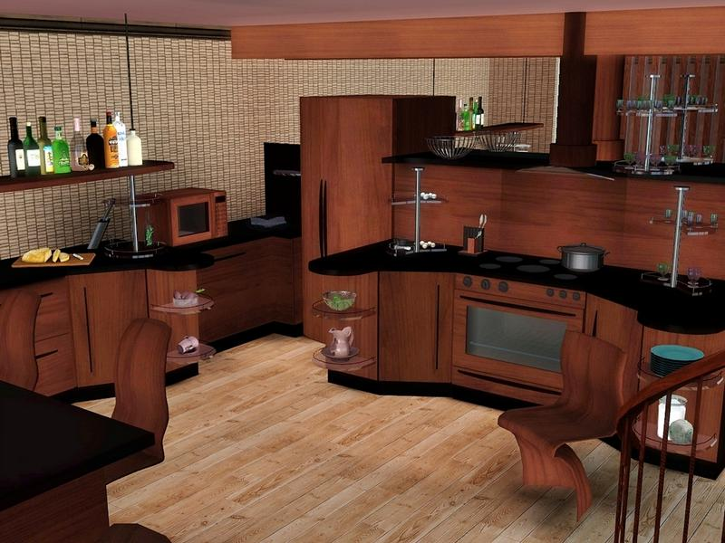 Flovv 39 s lucy kitchen for Modern kitchen sims 3