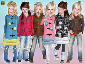 Sims 3 — The Cold Wind of Autumn - Set by lillka — This set includes: Winter coat, Corduroy jacket and jeans.
